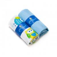 Kummiga voodilinade komplekt lapsele, Blue Owl