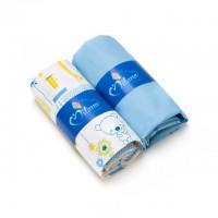 Kummiga voodilinade komplekt lapsele, Blue Jacadi