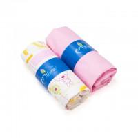 Kummiga voodilinade komplekt lapsele, Pink Jacadi