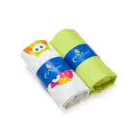 Baby fitted bed sheet set