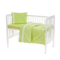 Laste voodipesukomplekt pitsiga, roheline