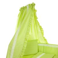 Voodikardin beebile pitsiga, roheline