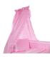 Voodikardin beebile pitsiga, roosa
