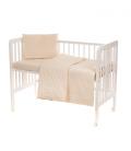 Laste voodipesukomplekt pitsiga, naturaalne