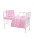 Laste voodipesukomplekt pitsiga, roosa