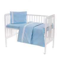 Baby bedding set with lace