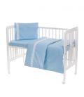 Laste voodipesukomplekt pitsiga, sinine