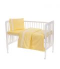 Laste voodipesukomplekt pitsiga, kollane