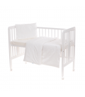 Laste voodipesukomplekt pitsiga, valge