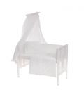 6-osaline vooditarvete komplekt lapsele, pitsiga (valge)