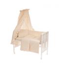 6-osaline vooditarvete komplekt lapsele, pitsiga (naturaalne)