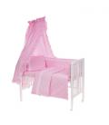 6-osaline vooditarvete komplekt lapsele, pitsiga (roosa)