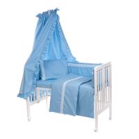 6-osaline vooditarvete komplekt lapsele, pitsiga (sinine)