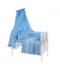 Baby bed items set with lace