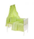 6-osaline vooditarvete komplekt lapsele, pitsiga (roheline)