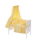6-osaline vooditarvete komplekt lapsele, pitsiga (kollane)