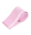 Voodipehmendus beebivoodile, pitsiga (roosa)